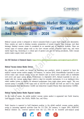 Medical Vacuum System Market Increasing Emphasis to Promote Growth Till 2026