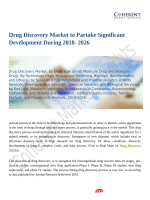 Drug Discovery Market Predicts Rise In Demand By  2026