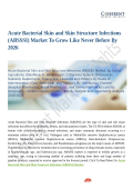 Acute Bacterial Skin and Skin Structure Infections (ABSSSI) Market To Be At Forefront By 2026