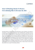 Stem Cell Banking Market Widespread Research and Fundamental study to 2026