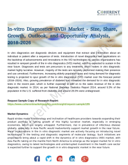 In Vitro Diagnostics (IVD) Market Effect and Growth Factors Research and Projection 2018-2026