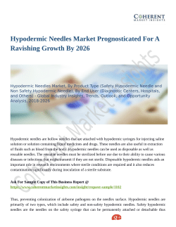 Hypodermic Needles Market Prognosticated For A Ravishing Growth By 2026