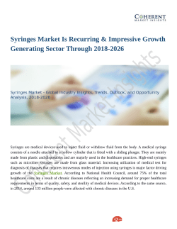 Syringes Market Best Productivity Supply Chain Relationship, Development by 2026