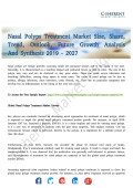 Nasal Polyps Treatment Market Study A Variety of Different Things