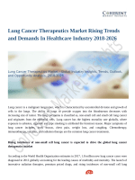 Lung Cancer Therapeutics Market to Perceive Substantial Growth During 2018–2026