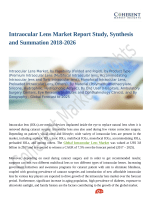 Intraocular Lens Market Expansion to be Persistent During 2018 – 2026