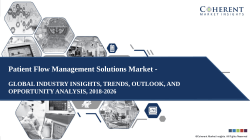 Patient Flow Management Solutions Market - Outlook, and Opportunity Analysis, 2018-2026