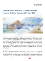 Irritable Bowel Syndrome Treatment Market Usage, Dosage And Side Effects Analysis 2018 to 2026