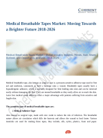 Medical Breathable Tapes Market Scrutinized in New Research 2018-2026
