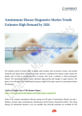 Autoimmune Disease Diagnostics Market Trends Estimates High Demand by 2026