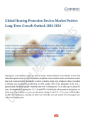 Global Hearing Protection Devices Market: Technological Breakthroughs by 2024