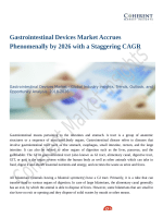 Gastrointestinal Devices Market Demands and Growth Prediction 2018 to 2026