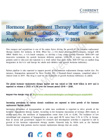 Hormone Replacement Therapy Market Anticipates Steady Growth Till 2026