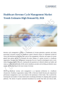 Healthcare Revenue Cycle Management Market Shows Expected Growth from 2018-2026
