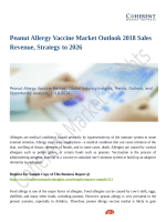 Peanut Allergy Vaccine Market To Be At Forefront By 2026