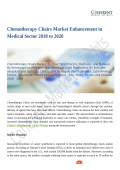Chemotherapy Chairs Market Enhancement in Medical Sector 2018 to 2026