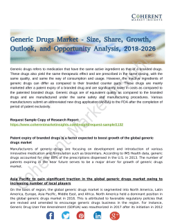 Generic Drugs Market