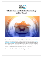 What is Nuclear Medicine Technology and its Usage
