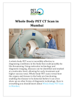 Whole Body PET CT Scan in Mumbai