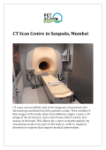 CT Scan Centre in Sanpada