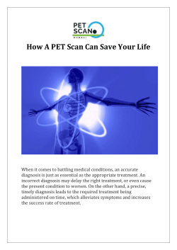 How A PET Scan Can Save Your Life