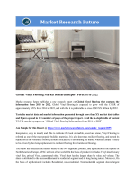 Global Vinyl Flooring Market Research Report- Forecast 2022
