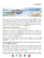 Nutrition Testing In Women and Children Market