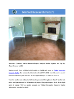 Decorative Concrete Market Research Report- Global Forecast to 2023