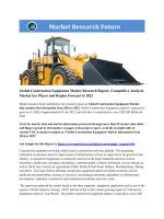 Global Construction Equipment Market Research Report - Forecast to 2022