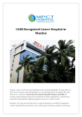 CGHS Recognized Cancer Hospital in Mumbai