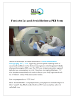Foods to Eat and Avoid Before a PET Scan