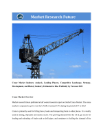 Global Crane Market Research Report - Forecast to 2023