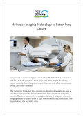 Molecular Imaging Technology to Detect Lung Cancer