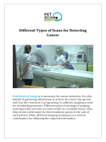 Different Types of Scans for Detecting Cancer