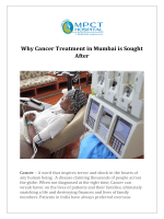 Why Cancer Treatment in Mumbai is Sought After