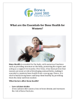 What are the Essentials for Bone Health for Women