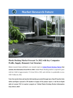 Global Plastic Decking Market Research Report - Forecast to 2022