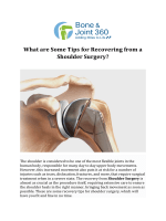 What are Some Tips for Recovering from a Shoulder Surgery