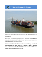 Cargo Shipping Market Research Report - Global Forecast till 2025