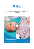 Novel Surgery Helps Save The Life Of A Young Boy