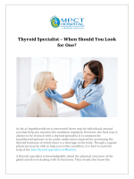 Thyroid Specialist  When Should You Look for One