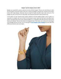 Bangles-Top Five Designs to Buy In 2019