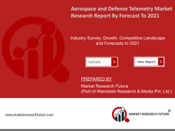 Aerospace and Defense Telemetry Market Report Information - Global Forecast to 2023