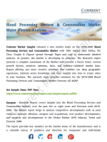 Blood Processing Devices & Consumables Market