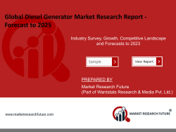 Diesel Generator Market To Observe A 6.5 % CAGR In The Forecast Period 2025