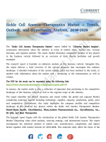 Sickle Cell Anemia Therapeutics Market